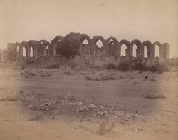 View from the south-east of the Tombs of Khan Muhammad and Abdul Razzaq Qadiri, known as the Jor Gumbaz, Bijapur